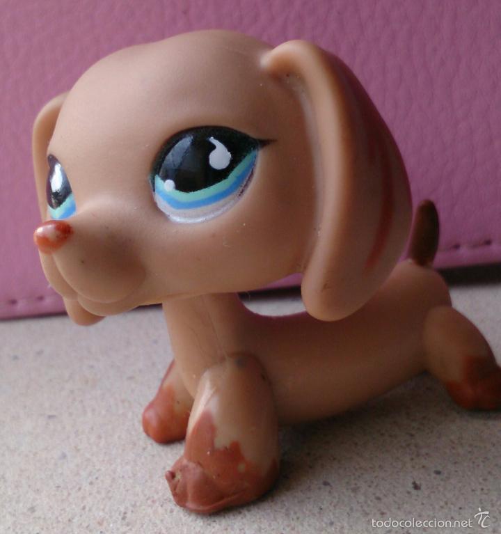 Figuras de Goma y PVC: Figura LPS Hasbro perro salchicha Teckel Dachshund 518 - Foto 2 - 159417697