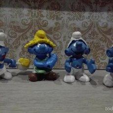Figuras de Goma y PVC: LOTE PITUFOS PVC MARCA SCHLEICH INCOMPLETAS COCINERO BULLY. Lote 56056049