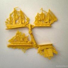 Figuras de Goma y PVC: COLADA DE BARCOS DE ALFREDO LOSADA - ESJUSA MONTAPLEX COLOR AMARILLO. Lote 56114529
