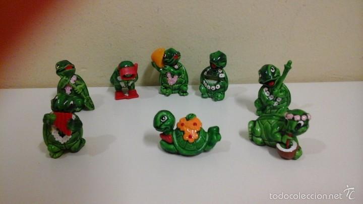 LOTE DE 8 FIGURAS TORTUGAS KINDER FERRERO (Juguetes - Figuras de Gomas y Pvc - Kinder)