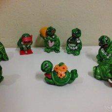 Figuras Kinder: LOTE DE 8 FIGURAS TORTUGAS KINDER FERRERO. Lote 56136880