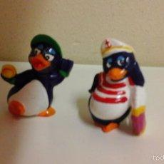 Figuras Kinder: 2 FIGURAS PINGUINOS DE HUEVO KINDER. Lote 56137639