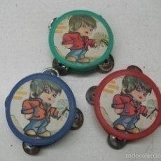 Figuras de Goma y PVC: PANDERETA PEQUEÑA AÑOS 60 QUIOSKO PIPERO. Lote 56163263