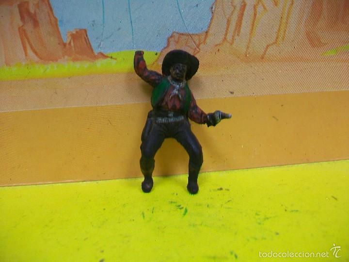 FIGURA VAQUERO GOMA PECH HERMANOS - FIGURA DE HERMANOS PECH DE GOMA AÑOS 50 (Juguetes - Figuras de Goma y Pvc - Pech)