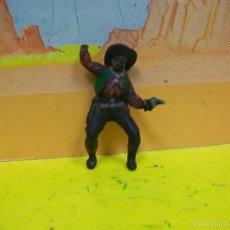 Figuras de Goma y PVC: FIGURA VAQUERO GOMA PECH HERMANOS - FIGURA DE HERMANOS PECH DE GOMA AÑOS 50 . Lote 56372519