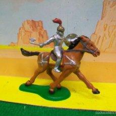 Figuras de Goma y PVC: FIGURA MEDIEVAL A CABALLO - FIGURA PLASTICO MEDIEVAL . Lote 56372702