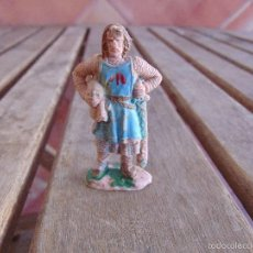 Figuras de Borracha e PVC: SOLDADO MEDIEVAL EN PLASTICO O GOMA MIDE 6.5 CM. Lote 56591789