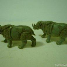 Figuras de Goma y PVC: LOTE FIGURAS RINOCERONTE PLASTICO DE JECSAN. Lote 56597984
