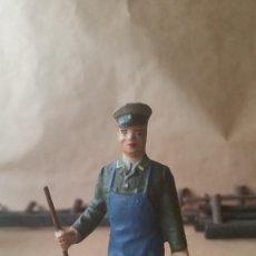 Figuras de Goma y PVC: CUIDADOR DE ZOO LINEOL 1950. Lote 56703470