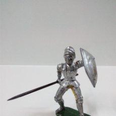 Figuras de Goma y PVC: GUERRERO MEDIEVAL . ELASTOLIN . AÑOS 60. Lote 56833459