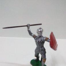 Figuras de Goma y PVC: GUERRERO MEDIEVAL . ELASTOLIN . AÑOS 60. Lote 56833474
