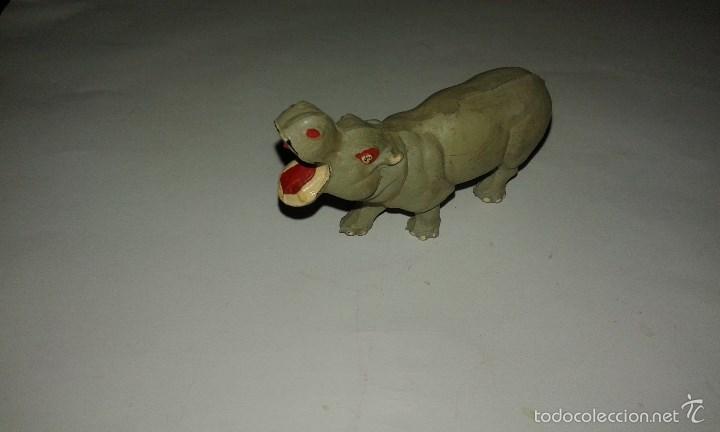 PECH HERMANOS ANIMALES SALVAJES HIPOPOTAMO DE GOMA AÑOS 50 AFRICA SALVAJE (Juguetes - Figuras de Goma y Pvc - Pech)