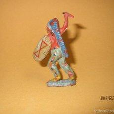 Figuras de Goma y PVC: ANTIGUO INDIO PIEL ROJA DE GOMA PRIMERA EPOCA DE PECH HNOS. - AÑO 1950S.. Lote 56905744