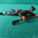Figuras de Goma y PVC: ELASTOLIN SERIE OESTE ESTADOS DEL NORTE UNIFORME VERDE 7 CTMS. Lote 56919626