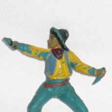 Figuras de Goma y PVC: PECH HERMANOS SERIE OESTE VAQUERO COWBOY DE GOMA. Lote 56926860