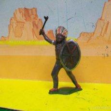 Figuras de Goma y PVC: FIGURA INDIO GOMA TEIXIDO - INDIO TEIXIDOR GOMA AÑOS 50 . Lote 56940932