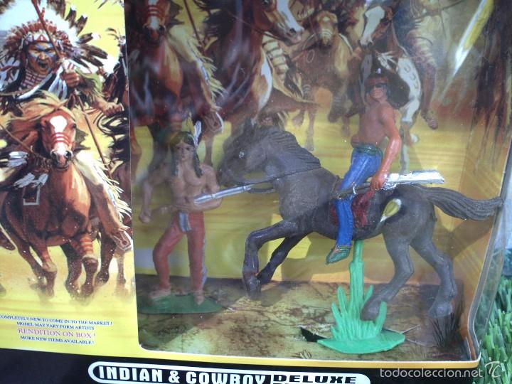 Figuras de Goma y PVC: caja con indios de jecsan - Foto 3 - 56990185