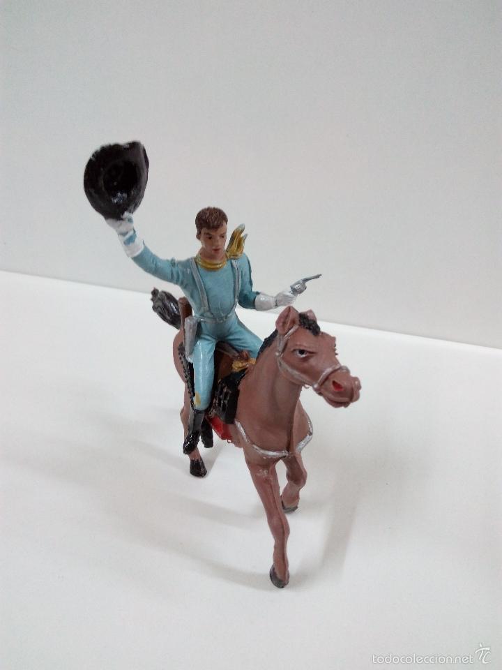 Figuras de Goma y PVC: FANTASTICO SOLDADO FEDERAL DEL 7º DE CABALLERIA. COMANSI. SERIE GRANDE 9 CM . AÑOS 60 - Foto 2 - 57068440