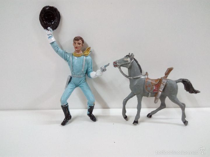 Figuras de Goma y PVC: FANTASTICO SOLDADO FEDERAL DEL 7º DE CABALLERIA. COMANSI. SERIE GRANDE 9 CM . AÑOS 60 - Foto 15 - 57068440