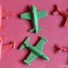 Figuras de Goma y PVC: 6 AVIONES MONTAPLEX. Lote 57086606