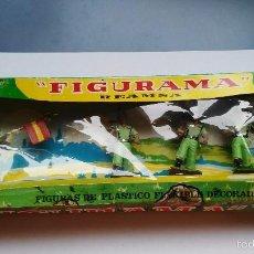 Figuras de Goma y PVC: CAJA ANTIGUA DE FIGURAMA REAMSA SOLDADOS DESFILE LEGIÓN . Lote 57087949