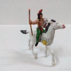 Figuras de Goma y PVC: INDIO A CABALLO . MINI OESTE . COMANSI. Lote 57113713