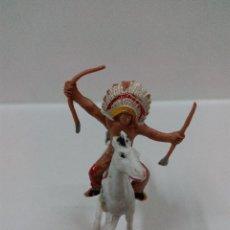 Figuras de Goma y PVC: INDIO A CABALLO . MINI OESTE . COMANSI. Lote 57113763