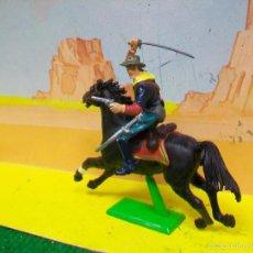 Figuras de Borracha e PVC: FIGURA YANKEE BRITAINS - BATALLA LITTLE BIG HORN. Lote 57187512