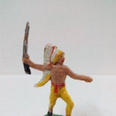 Figuras de Goma y PVC: GUERRERO INDIO . MINI OESTE . COMANSI. Lote 57285503