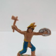 Figuras de Goma y PVC: GUERRERO INDIO . MINI OESTE . COMANSI. Lote 57285595
