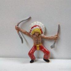 Figuras de Goma y PVC: JEFE INDIO PARA CABALLO . MINI OESTE . COMANSI. Lote 57285848
