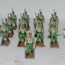 Figuras de Goma y PVC: LOTE DE 13 SOLDADOS DE LA LEGION, REALIZADOS EN GOMA DE REAMSA, GOMARSA, AÑOS 50. TAL Y COMO SE VEN . Lote 57322221