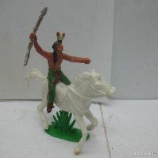 Figuras de Goma y PVC: INDIO Y CABALLO DE PLÁSTICO. Lote 57322285