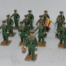 Figuras de Goma y PVC: LOTE DE 13 SOLDADOS DESFILE GUARDIA CIVIL, REALIZADOS EN GOMA DE REAMSA, GOMARSA, AÑOS 50. TAL Y COM. Lote 57322515