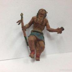 Figuras de Goma y PVC: ANTIGUA FIGURA EN GOMA INDIO MARCA TEIXIDO . Lote 57326427