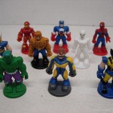 Figuras Kinder: LOTE9 FIGURAS KINDER SORPRESA COLECCIÓN SUPERHEROES MARVEL. Lote 57333673