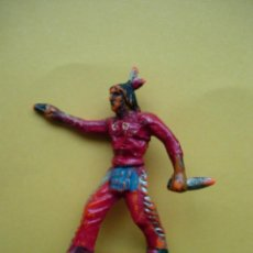 Figuras de Goma y PVC: INDIO CON PISTOLA 54MM. Lote 57360662