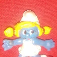 Figuras de Goma y PVC: PITUFO PITUFINA SMURF PVC. Lote 71733178
