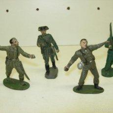 Figuras de Goma y PVC: LOTE 4 FIGURAS DE GOMA GUARDIA CIVIL DESFILE DE PECH Y 3 DE BRUVER. Lote 48147198