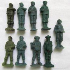 Figuras de Goma y PVC: 9 SOLDADOS PARACAIDISTAS CACAO TODDY AÑOS 60. Lote 57496221