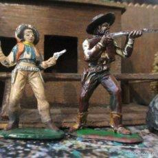 Figuras de Goma y PVC: VAQUERO JECSAN Y OTRO . Lote 57511973