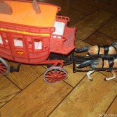 Figuras de Goma y PVC: DILIGENCIA CARAVANA COMANSI OESTE VAQUEROS. Lote 140742176