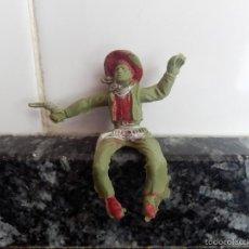 Figuras de Goma y PVC: VAQUERO PVC CREO MARCA LAFREDO. Lote 195671575