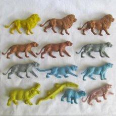 Figuras de Goma y PVC: 13 FIGURAS DE ANIMÁLES DE PLÁSTICO. Lote 57541195