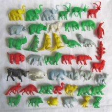 Figuras de Goma y PVC: 44 FIGURAS DE PLÁSTICO DE ANIMALES DUNKIN. Lote 57542590