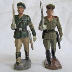 Figuras de Goma y PVC: 2 SOLDADOS OFICIALES ALEMANES DE PLÁSTICO. Lote 57544506