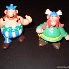 Figuras de Goma y PVC: OBELIX Y ABRARACURCIX. Lote 57560437