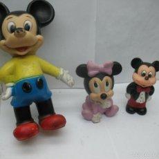 Figuras de Goma y PVC: DISNEY - LOTE DE MICKEY Y MINNIE DE PLÁSTICO DE LOS AÑOS 60. Lote 57572147