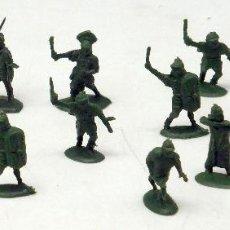 Figuras de Goma y PVC: 15 SOLDADOS ROMANOS Y GALOS MONTAPLEX MONTA PLEX AÑOS 70 . Lote 57594745