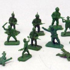 Figuras de Goma y PVC: 22 SOLDADOS AUSTRALIANOS AMERICANOS Y OTROS MONTAPLEX MONTA PLEX 2ª GUERRA MUNDIAL AÑOS 70. Lote 57594804